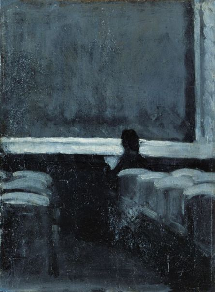 EDWARD HOPPER, SOLITARY FIGURE IN A THEATER, OIL ON CANVAS,1902