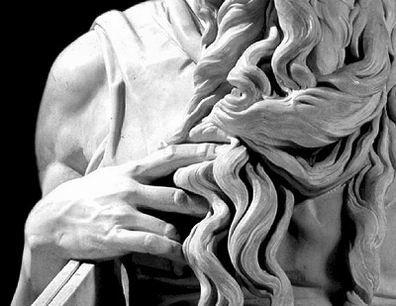 Mosè Michelangelo, particolare , scultura