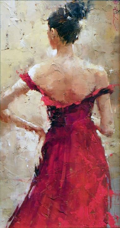 Andre Khon the bridesmaid oil on canvas